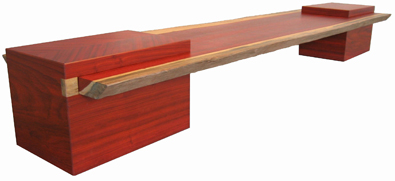 Padauk Bench/Coffee Table